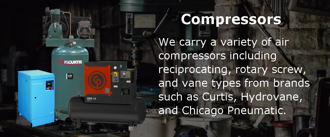 We offer a variety of compressor brands for sale.
