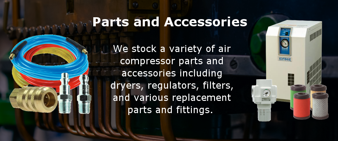 We offer a variety of parts and accessories for air compressors