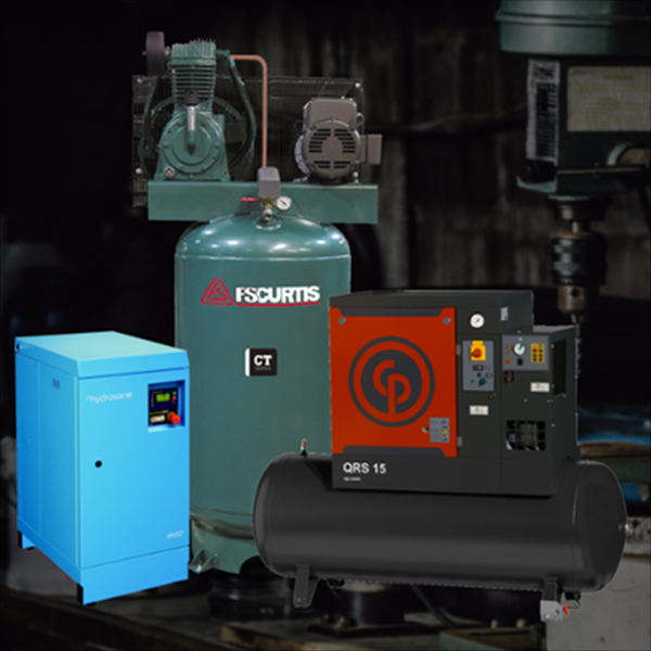 We offer a variety of air compressors for sale.